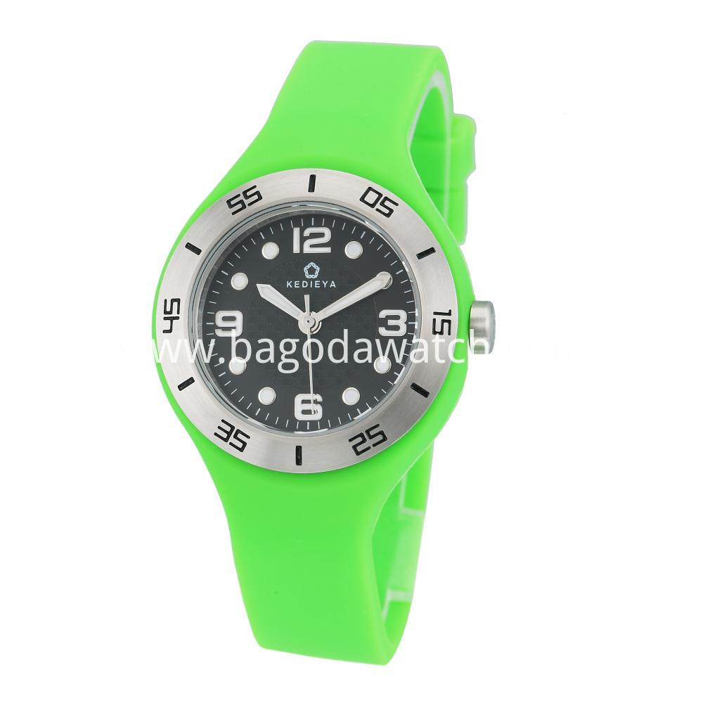 Women S Silicone Strap Watch