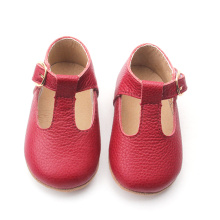 Krismas Merah Mary Jane T-Bar Girls Dress Shoes