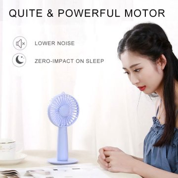 Mini USB Hand Make up Mirror Fan Rechargeable