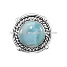 Lovely Larimar Edelstein 925 Sterling Silber Ring