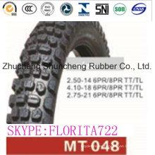 Neumático de piezas de la motocicleta (2.50-14 4.10-18 2.75-21)