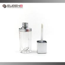Lipstick estilo lip gloss embalagem, AS e PETG material lip gloss tube