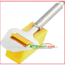Stainless steel cheese slicer/spatula