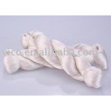 hilados de seda cruda