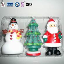Presente de Natal conjunto vela decorações