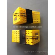 TBF Heavy Duty Truck Rueda Chock / Buena calidad material plástico cuña de la rueda para la parada del neumático del camión del coche para parking125051 + 125013