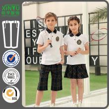 2016 Polo Style Meninos Modelo de Uniforme Escolar