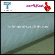 tissu transparent peigné coton popeline technic armure dobby pour le vêtement de l'été robes