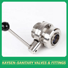 DS/SMS Hygienic Male/Nut Butterfly Valve