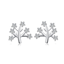 Handcraft korean style jewelry tree of life diamond earring