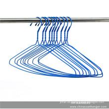 Metal plástico 2,8 mm diámetro alambre plateado ropa percha para el paño
