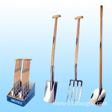 Stainless Steel Spade, Spading Fork, Square Point Shovel