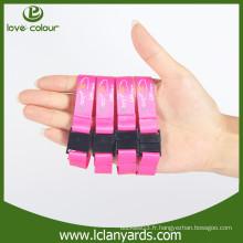 Nouveau bracelet en tissu de festival de style avec boucle détachée