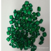 Labor erstellt Smaragd lose Kissen Form Edelsteine