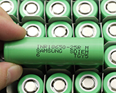 cool flashlight battery battery samsung inr18650 25r (green)