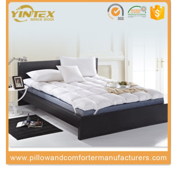 Wholesale Soft White Goose Down Feather Mattress Pad