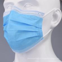 Máscara protectora cirúrgica descartável da tela não tecida de 3 dobras