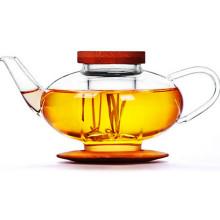 Hervidor de agua de cristal del té del diseño hermoso