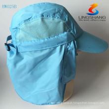 Summer Mens Mens Proteção Solar Windproof Pescoço Cap Pescoço Face Mask Flap Hat