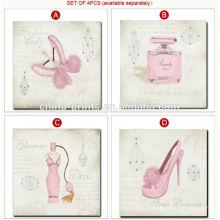 Прекрасная розовая картина Холст для декорации номера девушки
