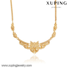 43948 fashion wholesale china 18k latest design saudi gold jewelry necklace