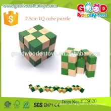 Juguetes clásicos inteligentes de madera promocionales 2.5cm IQ Cube Puzzle