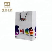 saco de lembrança de papel de presente de design high-end de exposição