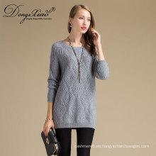 Diseño personalizado Spring fashion Sexy Women 100% suéter merino punto jersey translúcido jersey