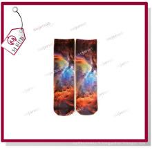 Sublimation Photo personnalisé imprimé Poly chaussettes longueur moyenne