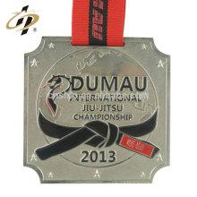 Échantillon gratuit estampage personnalisé concevoir votre propre logo médaille de métal de championnat de judo