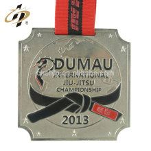 Amostra grátis personalizado stamping projetar seu próprio logotipo judo campeonato medalha de metal
