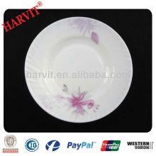 Plato de cena de cristal redondo al por mayor de Opal