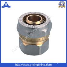 Высококачественный латунный компрессионный фитинг с концевыми упорами (YD-6055)