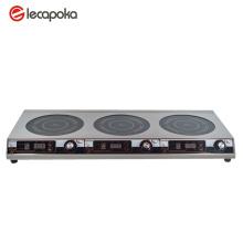 Table de cuisson électrique à triple brûleur