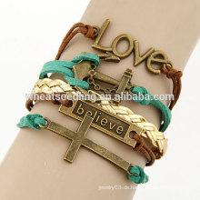 Das Kreuz Armband benutzerdefinierte gewebte Armbänder
