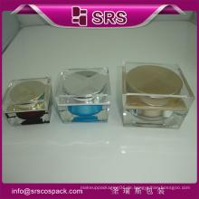 Top Verkauf J055 Square Shape Clear Skincare Creme Container Und 30g 50g 100g Acryl Kosmetik Jar 100