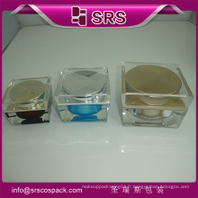 Meilleure vente J055 Forme carrée Clear Skincare Cream Container et 30g 50g 100g Acrylic Cosmetic Jar 100