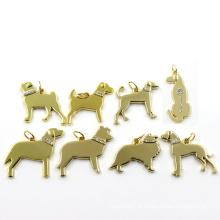 Metal liga de zinco ouro pingente de moda cão