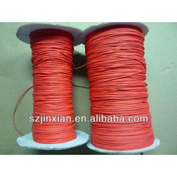 Cordón de algodón encerado de 1 mm