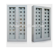 Station de carbonisation de porte en verre acrylique transparent locker