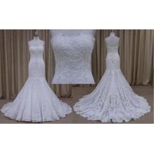 Lindo vestido de noiva 2016 sereia de malha de renda