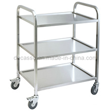 Stainless Steel Hotel Food Service Cart Trolley (DE34)