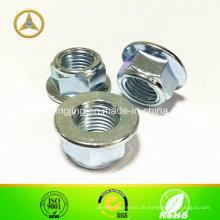 DIN6923 / GB6187 / 86 / ISO4161 Kohlenstoffstahl-Mutter M5 ~ M40