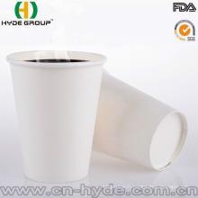 Nouvelle tasse de papier blanc de 2016 Disposal de produit avec de haute qualité
