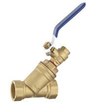 Латунный Y-фильтр с шаровым клапаном / латунным обратным клапаном (a. 0210)