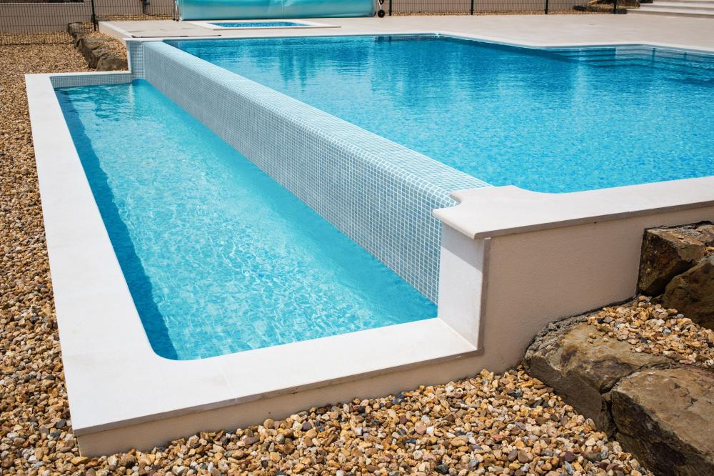 Swimming Pool Glass Mosaic Tiles Background
