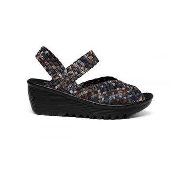 Camouflage Blue Breathable Mesh Lining Woven Sandals