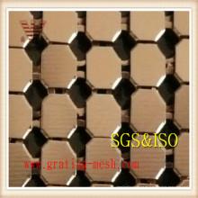 Malla de alambre de la pared de cortina / malla de la cortina del metal de la decoración