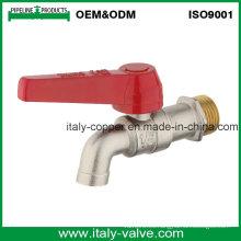 ISO9001 Certified latón forjado níquel plateado Bibcock sin salida (AV2045)