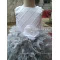 NW-472 Top en perles de charme avec jupe en plume Robe de soirée Robe en fleur
